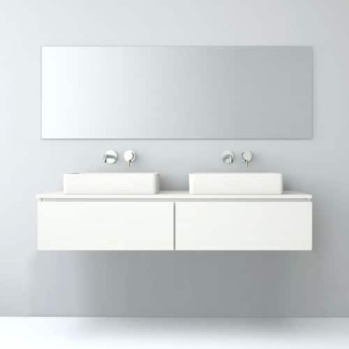 Mueble de baño 2 cajones en horizontal